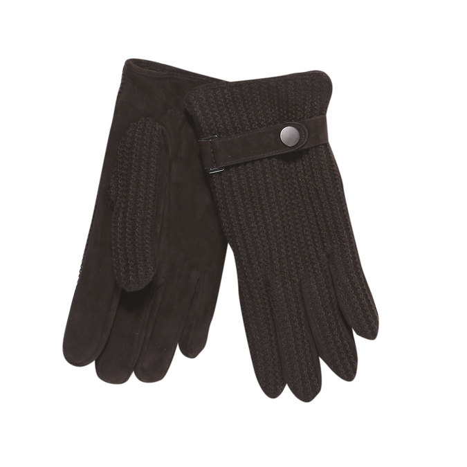 Men´s gloves with knit bata, brown , 909-4295 - 13