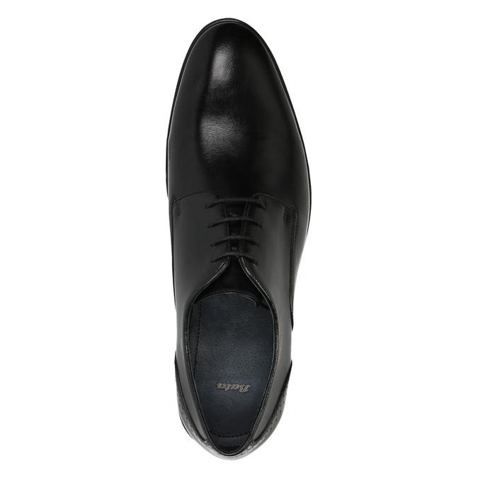 Men's leather shoes bata, black , 824-6705 - 19