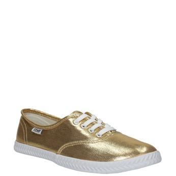 Gold women's sneakers tomy-takkies, gold , 519-8690 - 13