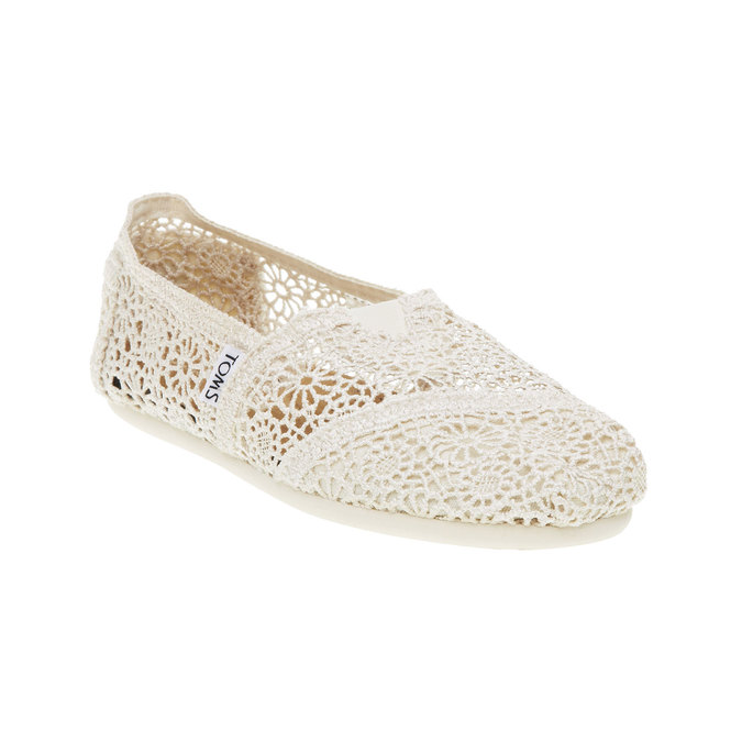 Lace slip-ons toms, beige , 519-1100 - 13