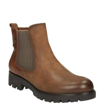 Ladies' ankle shoes bata, brown , 696-4606 - 13