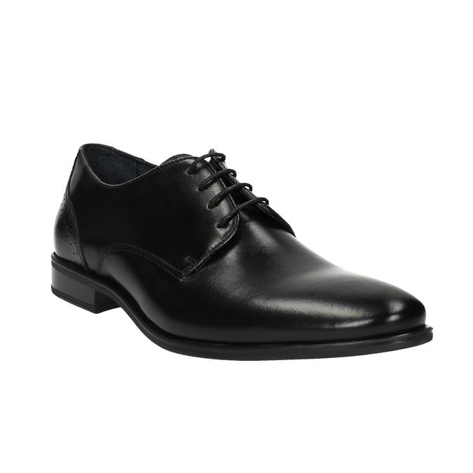 Men's leather shoes bata, black , 824-6705 - 13