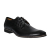 Leather ankle shoes with stitching conhpol, black , 824-6737 - 13