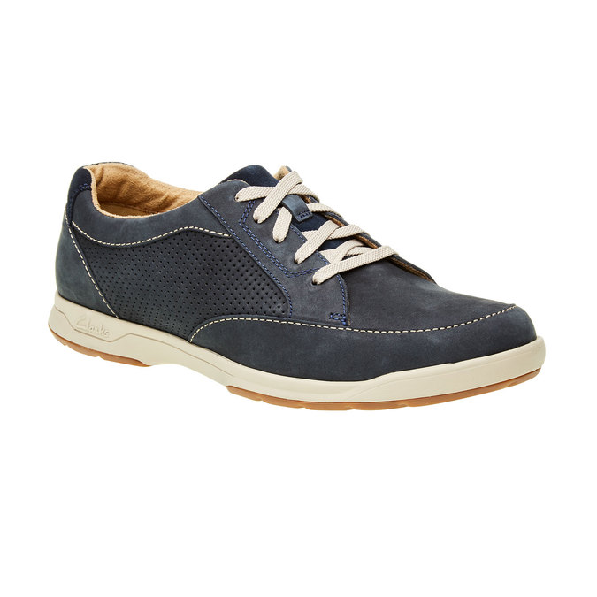 Men´s shoes made of brushed leather clarks, blue , 826-9006 - 13