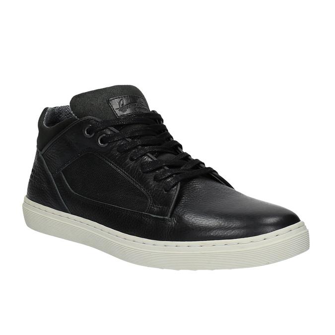 Men's casual sneakers bata, black , 844-6624 - 13