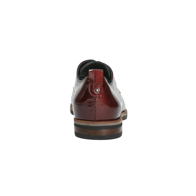 Ladies' Derby shoes bata, red , 528-5600 - 17