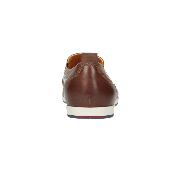 Men´s leather Slip-ons bata, brown , 814-4148 - 17