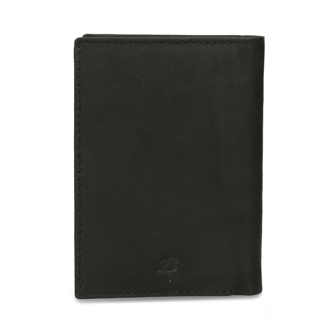 Leather document and card case, black , 944-6158 - 26