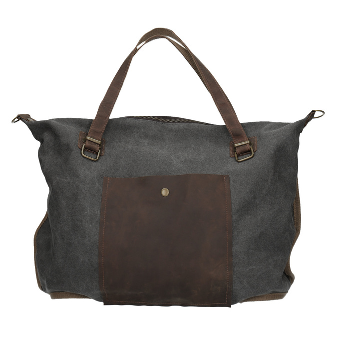 Big bag with strap weinbrenner, gray , 969-2620 - 26