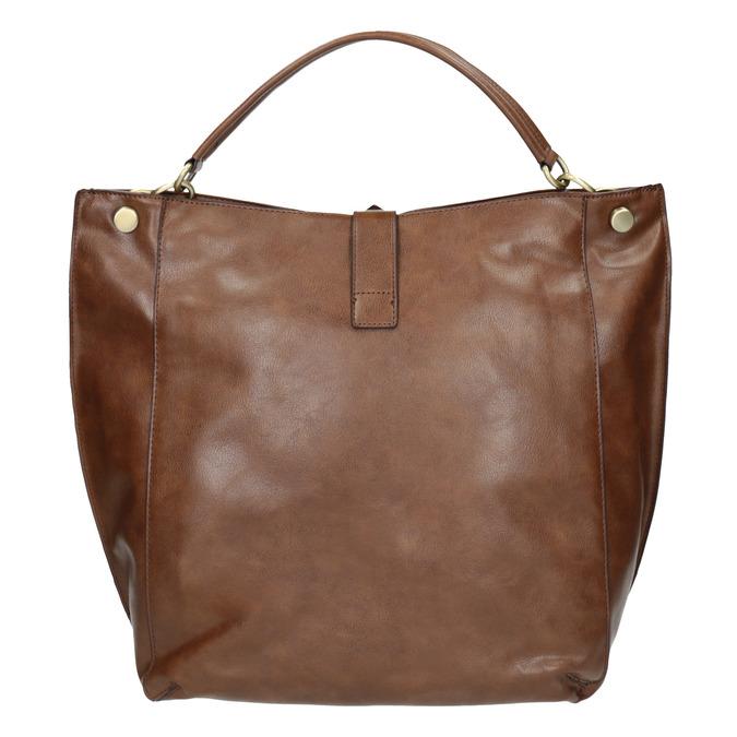 Brown Hobo-style handbag bata, brown , 961-3808 - 26