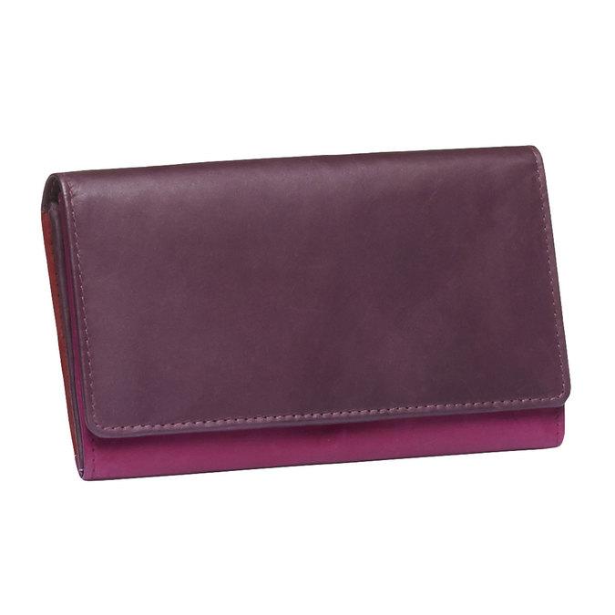 Ladies' leather purse bata, red , 944-5156 - 13
