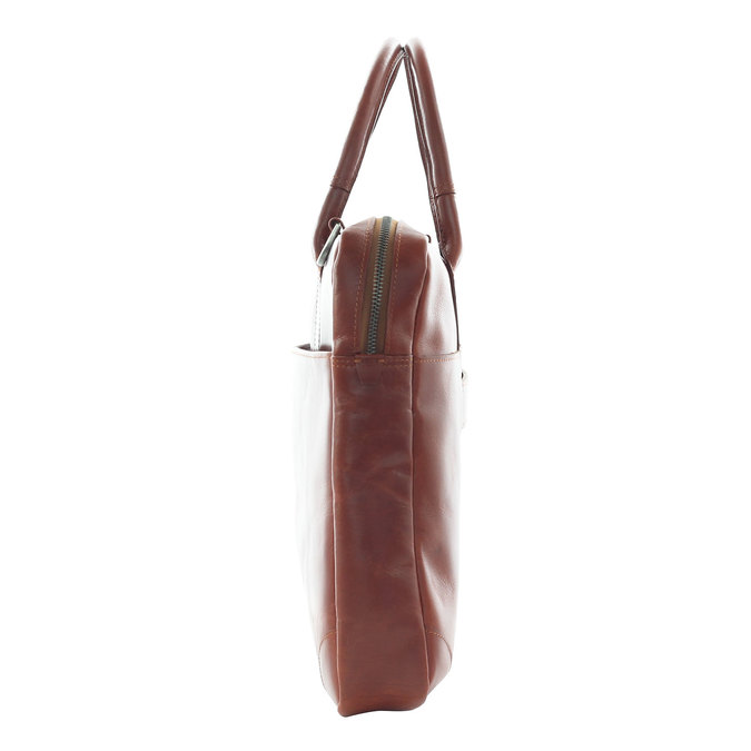 Leather bag with strap royal-republiq, brown , 964-4199 - 17