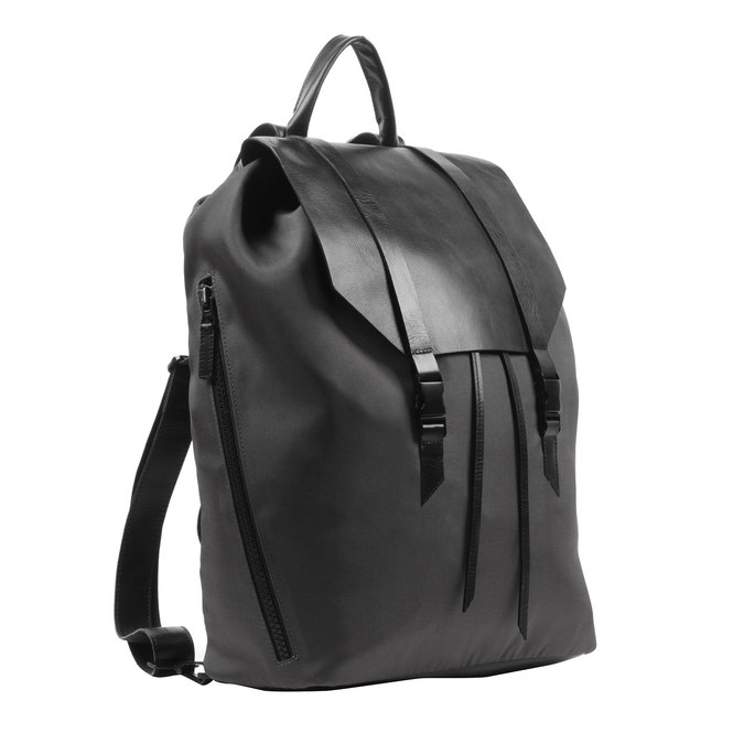 Black backpack royal-republiq, black , 964-6208 - 13