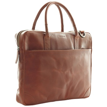 Leather bag with strap royal-republiq, brown , 964-4199 - 13