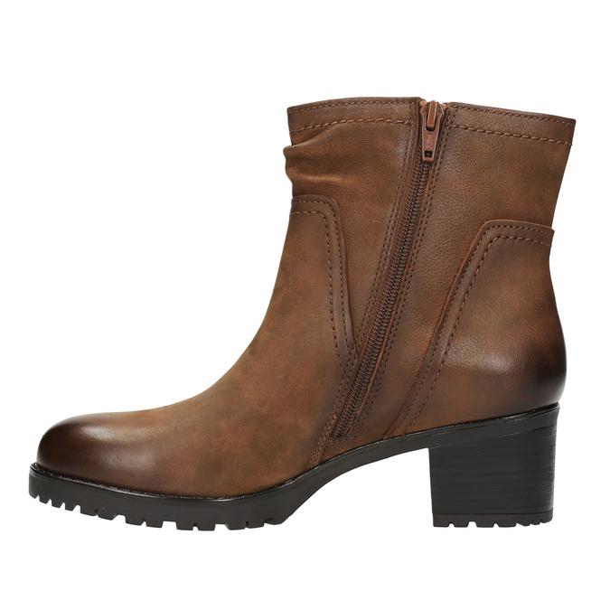 Ladies' ankle shoes bata, brown , 696-4603 - 26