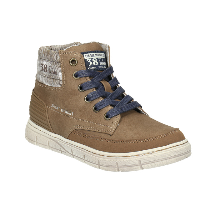 Boys´ ankle-cut sneakers mini-b, brown , 391-4600 - 13