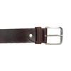 Brown leather belt bata, brown , 954-3106 - 26