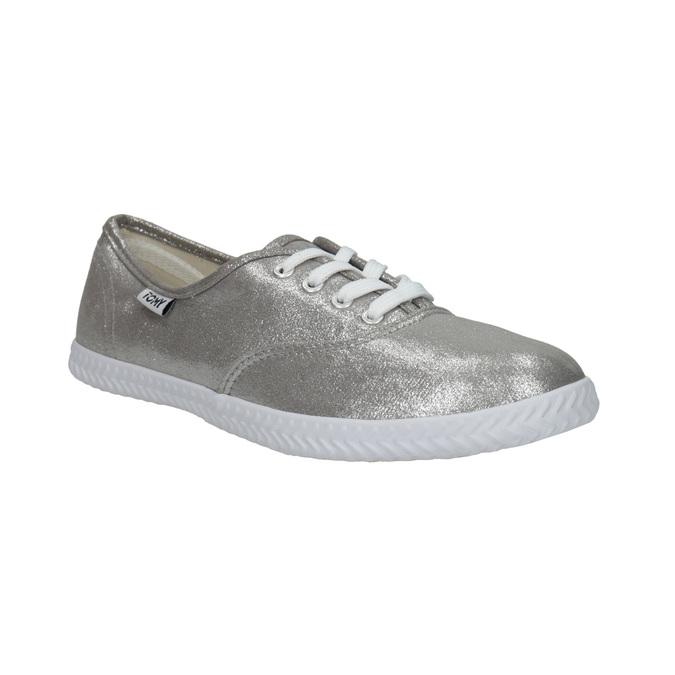 Ladies' silver sneakers tomy-takkies, silver , 519-1690 - 13