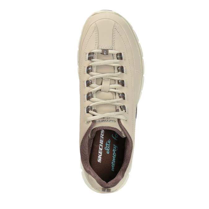 Ladies' leather sneakers skechers, beige , 503-3323 - 19