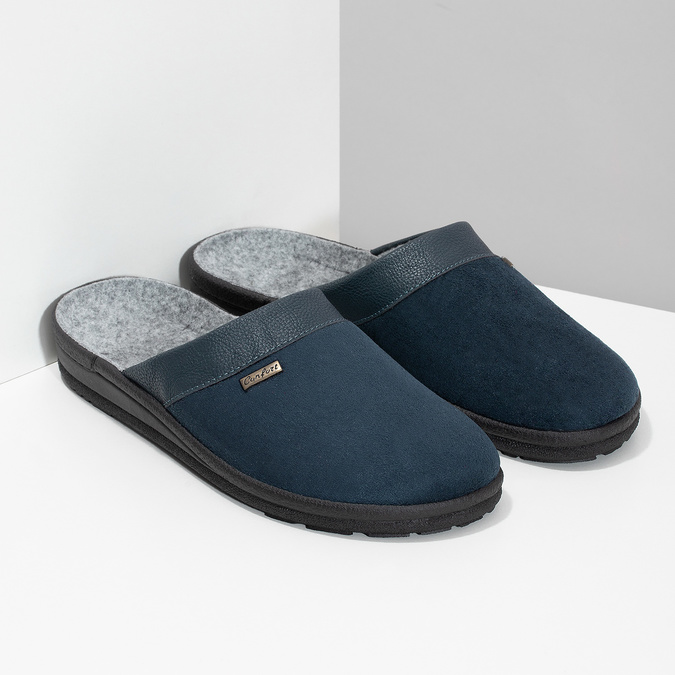 Men's slippers bata, blue , 879-9600 - 26