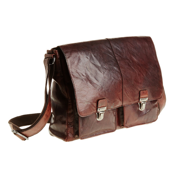 Leather bag bata, brown , 964-4178 - 13