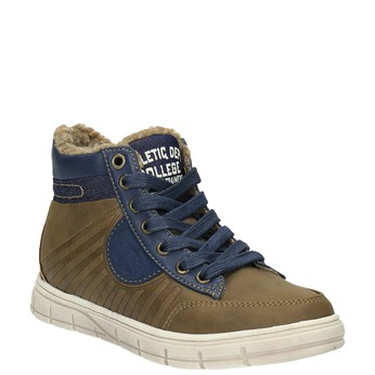 Children's sneakers with fur mini-b, brown , 491-4600 - 13