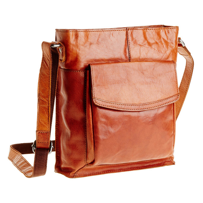 Men´s leather Crossbody bag bata, brown , 964-3141 - 13