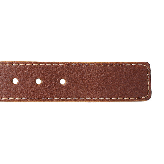 Men's belt with quilting bata, brown , 954-4147 - 16