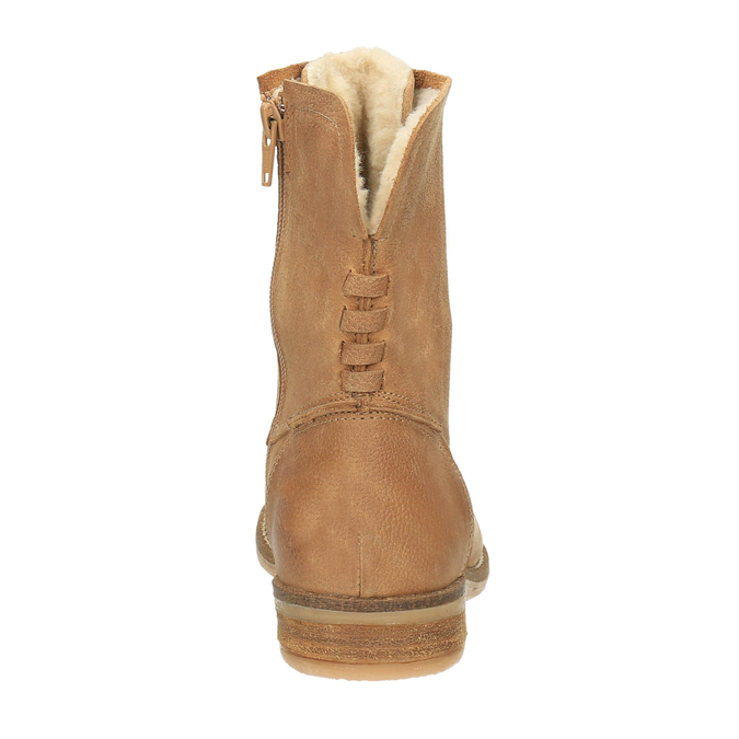 Leather insulated ankle boots bata, brown , 596-3610 - 17