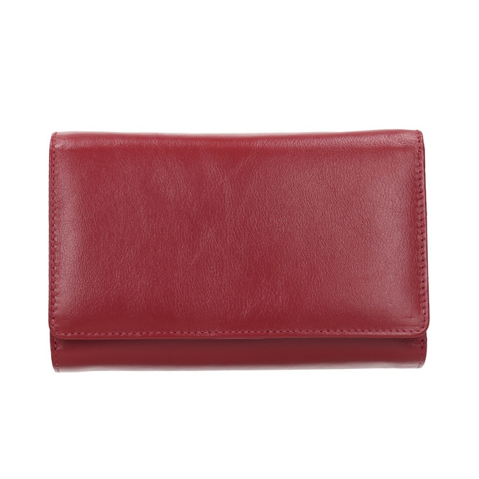 Ladies' leather  purse bata, red , 944-5168 - 26