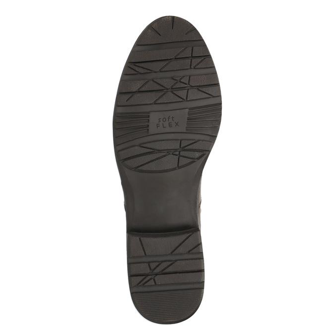 H-width leather Cossacks bata, brown , 596-4611 - 26