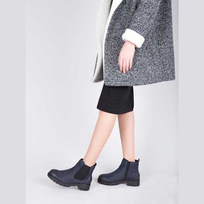 Ladies' ankle shoes bata, blue , 696-9606 - 18