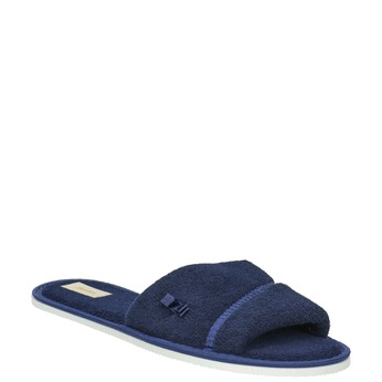 Ladies' slippers with bow bata, blue , 579-9609 - 13