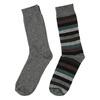 2 pairs men's socks bata, gray , 919-2411 - 26