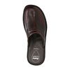Men's leather slippers, brown , 874-4600 - 19