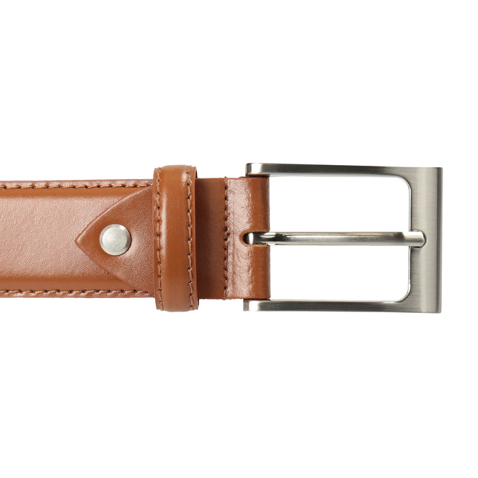 Men's brown leather belt bata, brown , 954-3153 - 26