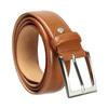 Men's brown leather belt bata, brown , 954-3153 - 13