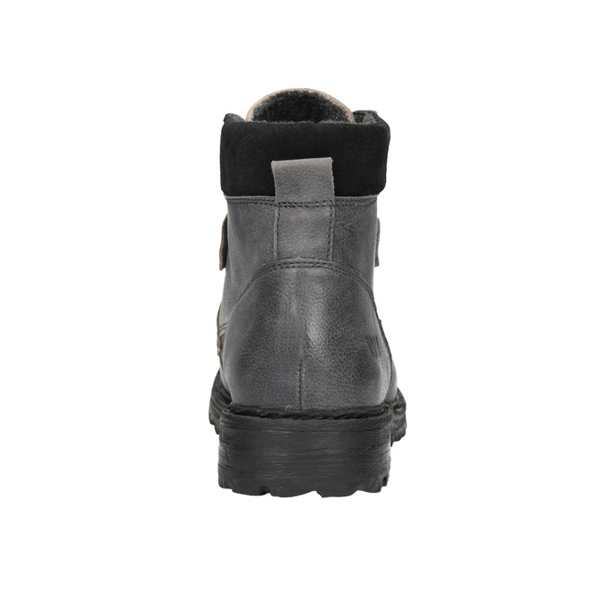 Leather ankle boots with a distinctive sole weinbrenner, gray , 896-2110 - 17