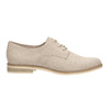 Ladies' Derby shoes bata, beige , 529-8632 - 15