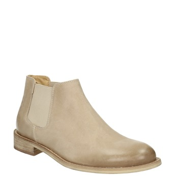 Leather Chelsea Boots bata, beige , 594-8432 - 13