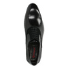 Black leather Oxford shoes conhpol, black , 824-6887 - 19