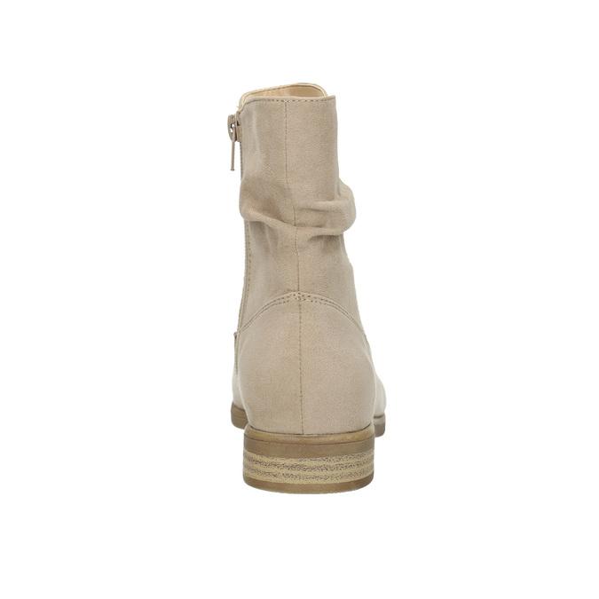 Ladies' high ankle boots bata, beige , 599-8614 - 17