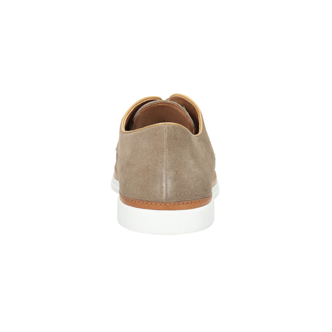 Casual leather shoes bata, beige , 843-8623 - 17