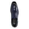 Blue leather Oxford shoes bata, blue , 826-9822 - 19