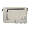 Crossbody handbag with perforated flap bata, gray , 961-2709 - 26