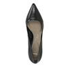 Pointed leather pumps pillow-padding, black , 624-6635 - 19