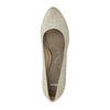 Leather court shoes with perforations, beige , 726-1642 - 19