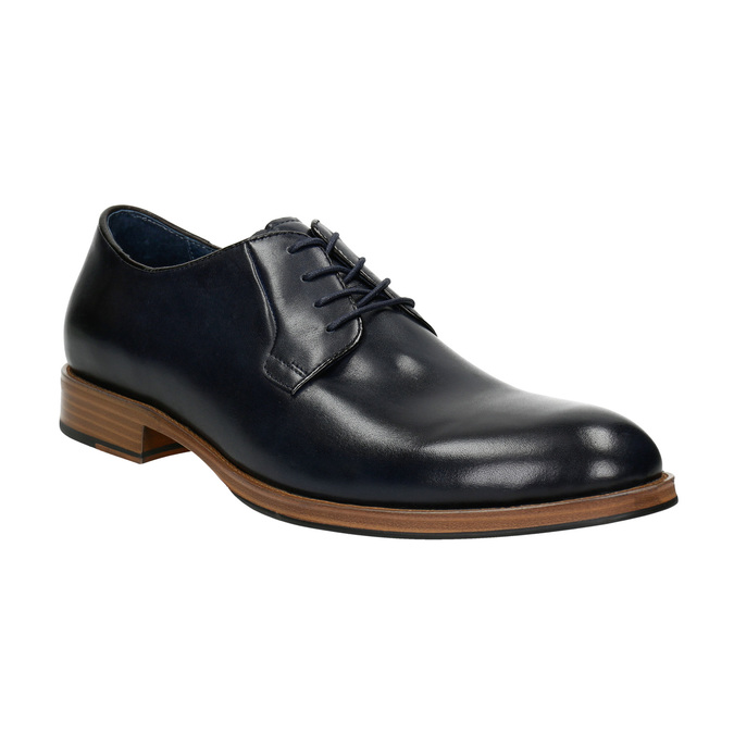 Leather shoes with a casual sole bata, blue , 826-9820 - 13
