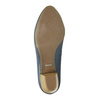 Pumps on a stable heel pillow-padding, blue , 626-9637 - 26