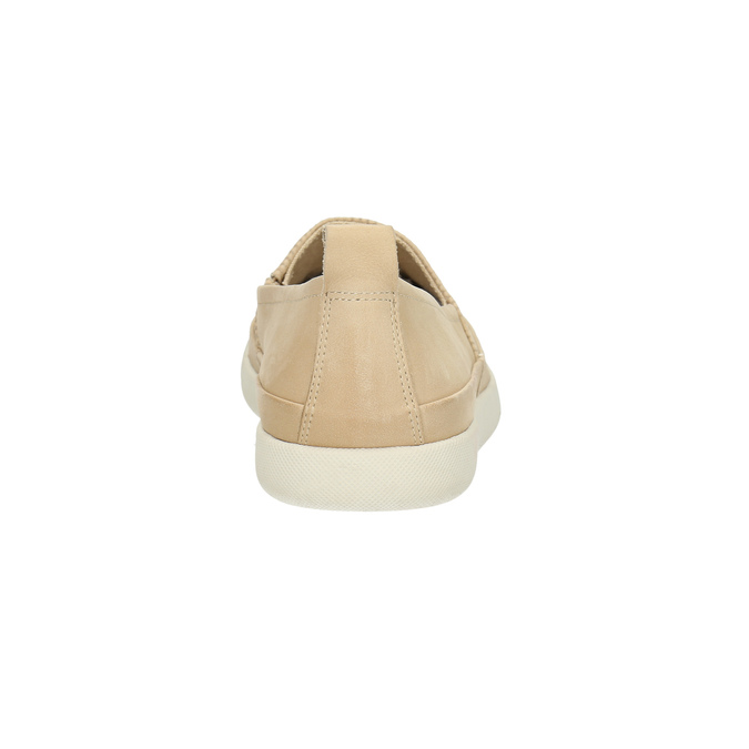 Light slip-ons for ladies bata, beige , 516-8601 - 17